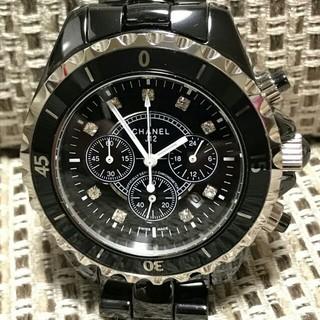 シャネル(CHANEL)のCHANEL J12 腕時計 シャネル メンズ 時計 ブラック(腕時計(アナログ))