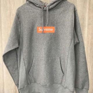 Supreme - Lサイズ Box Logo Hooded Sweatshirt Grey