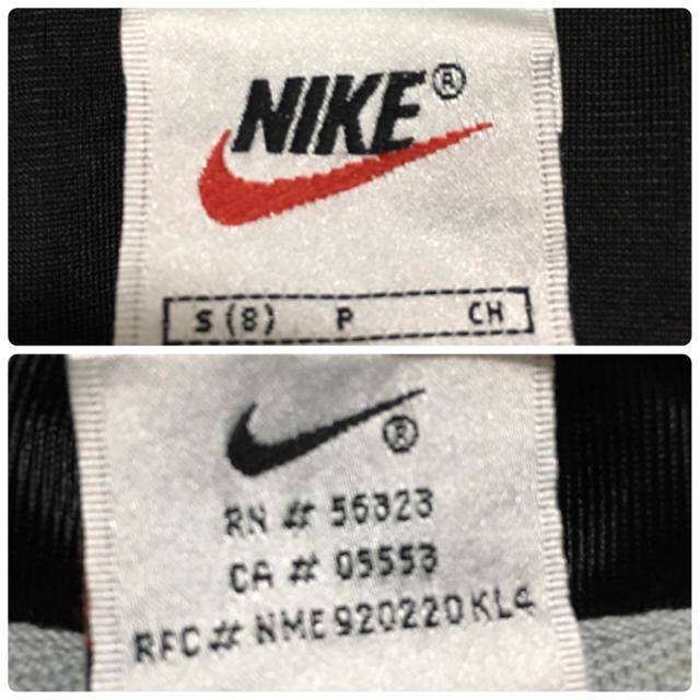 NIKE(ナイキ)の激レア 90s NIKE 銀タグ サテン生地 トラックトップ ジャージ 半袖 メンズのトップス(ジャージ)の商品写真