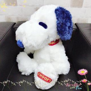 スヌーピー(SNOOPY)の【新品】スヌーピー お座りビッグぬいぐるみ〈ブルー〉(非売品)(キャラクターグッズ)