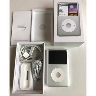 アップル(Apple)のApple iPod classic 160GB シルバー MC293J/A(ポータブルプレーヤー)