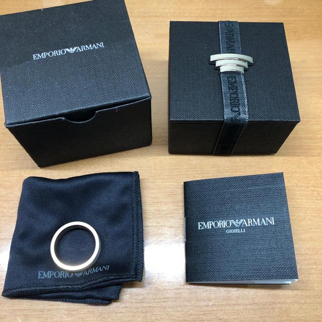 Emporio Armani(エンポリオアルマーニ)の米国限定品 EMPORIO ARMANI 指輪 21号 メンズ メンズのアクセサリー(リング(指輪))の商品写真