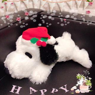 SNOOPY - 【新品】スヌーピー 寝そべりぬいぐるみ クリスマスver.〈黒〉(非売品)