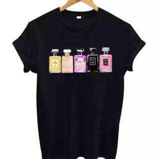 シャネル(CHANEL)のMサイズCHANELフレグランスいっぱいTシャツ(Tシャツ(半袖/袖なし))
