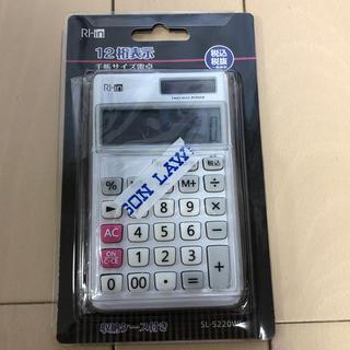 電卓 12桁表示 ケース付き