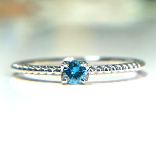トクトクジュエリーメイ  PT900 天然ダイヤモンド 0.08ct(リング(指輪))