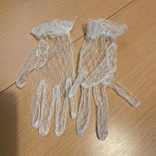 ウエディング グローブ ショート レース ホワイト 結婚式(手袋)