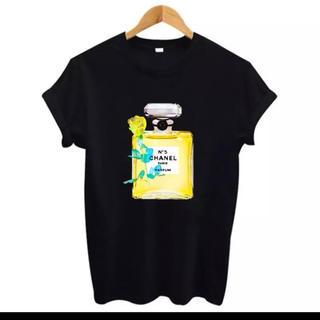 シャネル(CHANEL)のMサイズCHANEL黄色のフレグランスTシャツ(Tシャツ(半袖/袖なし))