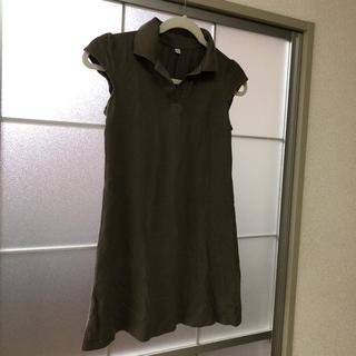 ユニクロ(UNIQLO)のUNIQLO☆カーキポロシャツチュニック(ポロシャツ)