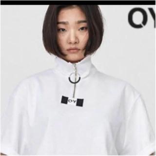 オフホワイト(OFF-WHITE)の【激レア品】OY ハーフZIPポロシャツ White(Tシャツ(半袖/袖なし))
