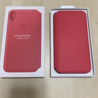 アップル(Apple)のiPhone XS MAX 純正 フォリオ ケース folio レザー(iPhoneケース)