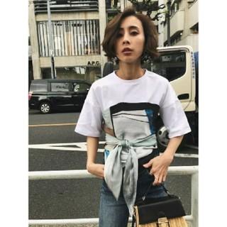 アメリヴィンテージ(Ameri VINTAGE)のAmeri【新品】大人気 スカーフ ドッキングTシャツ(Tシャツ(半袖/袖なし))
