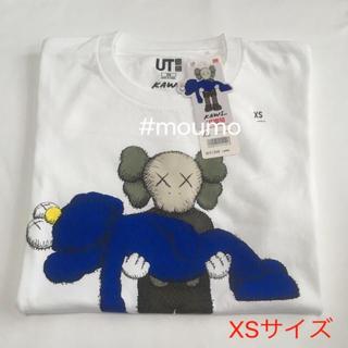 ユニクロ(UNIQLO)の⚫️値下不可⚫️メンズ UNIQLO KAWS Tシャツ ホワイト×ブルー(Tシャツ/カットソー(半袖/袖なし))