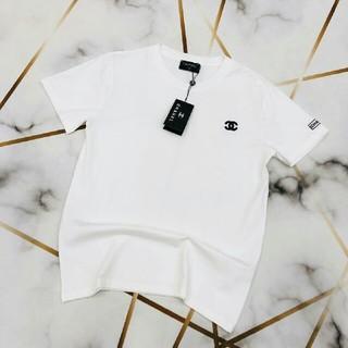 シャネル(CHANEL)のCHANEL    シャネル Tシャツ 刺繍 男女通用 美品 (Tシャツ/カットソー(半袖/袖なし))