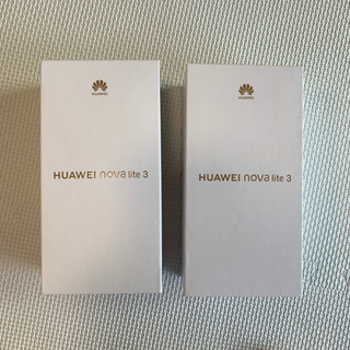 アンドロイド(ANDROID)のうささま専用 HUAWEI nova lite3 新品未開封 1台(スマートフォン本体)