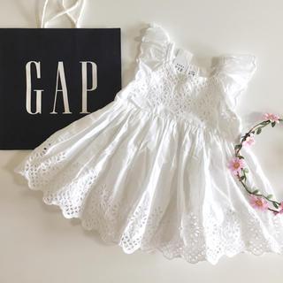 ベビーギャップ(babyGAP)の新品♡今季♡baby gap♡ワンピース 刺繍/ラルフローレン ユニクロ 他(ワンピース)