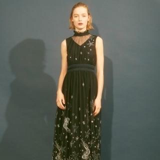 リリーブラウン(Lily Brown)のLily Brown/リリーブラウン seaモチーフ刺繍ロングワンピース  (ロングワンピース/マキシワンピース)