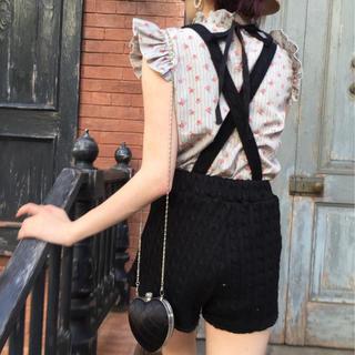 ロキエ(Lochie)のcable knit 2way short pants black epine (ショートパンツ)