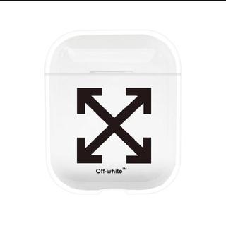 オフホワイト(OFF-WHITE)のOFF WHITEエアポッズケースairpodsカバー(ストラップ/イヤホンジャック)