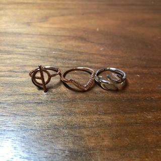 ピンキーリング 3点セット バラ売り可(リング(指輪))