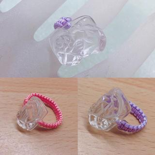 ♡水晶ミニマム貔貅ちゃん指輪♡(リング(指輪))