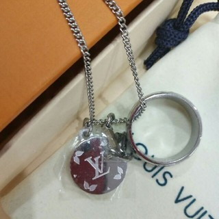 ルイヴィトン(LOUIS VUITTON)のLouis Vuitton リング 指輪 ネックレス 男女 (ネックレス)