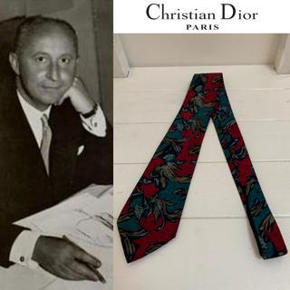 ディオールオム(DIOR HOMME)のChristian Dior PARIS VINTAGE フランス製 柄ネクタイ(ネクタイ)
