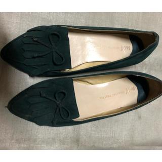 エイチアンドエム(H&M)のH&M ダークグリーン41サイズ ローファー(ローファー/革靴)