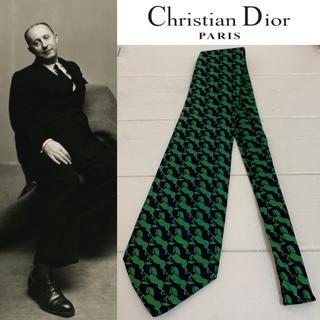 ディオールオム(DIOR HOMME)のChristian Dior PARIS ITALY製 ホース柄 シルクネクタイ(ネクタイ)