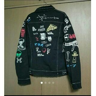 ZARA - デザイン デニムジャケット トップス Gジャン ジーンズ デニム ブラック 黒