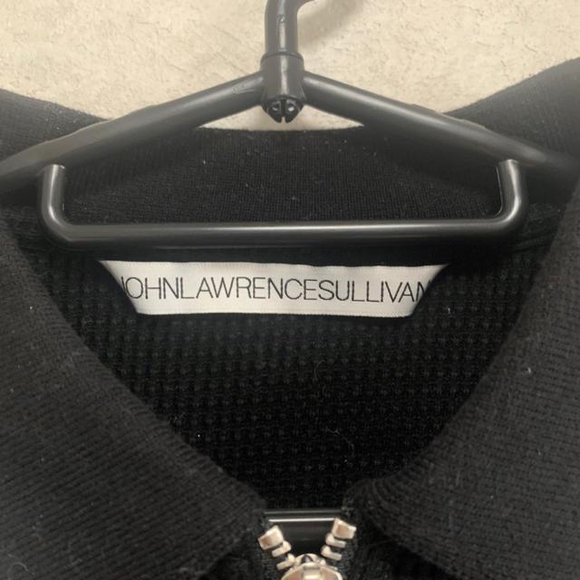 JOHN LAWRENCE SULLIVAN(ジョンローレンスサリバン)の【ジョンローレンスサリバン】ポロシャツ ブラック ワッフル リングジップ メンズのトップス(ポロシャツ)の商品写真