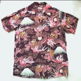 サンサーフ(Sun Surf)のサンサーフ   アロハシャツ (XS) 龍と富士山   再出品(シャツ)