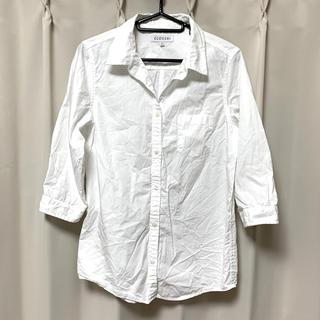 しまむら - しまむら 綿100% シャツ 七分袖 Mサイズ クロッシィ 白シャツ
