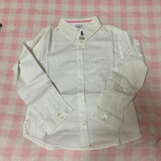 ギャップ(GAP)の未使用品 GAP シャツ 7〜8歳 白(Tシャツ/カットソー)