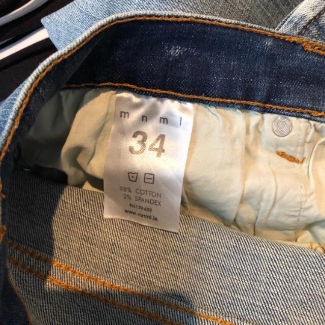 FEAR OF GOD(フィアオブゴッド)のmnml ダメージジーンズ 34  メンズのパンツ(デニム/ジーンズ)の商品写真
