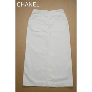 シャネル(CHANEL)のCHANEL  シャネル 36サイズ コットン100 フランス製 ロングスカート(ロングスカート)