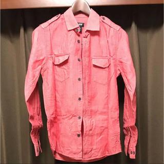 エイチアンドエム(H&M)のH&M、ピンクシャツXS(シャツ)