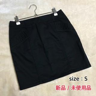 ジーユー(GU)の新品  未使用  GU*ミニスカート  ブラック  Sサイズ(ミニスカート)