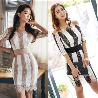 韓国ドレス 綺麗め大きめドレス L~XL(ナイトドレス)