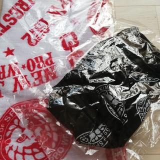 しまむら - 新日本プロレス タオルと小物巾着