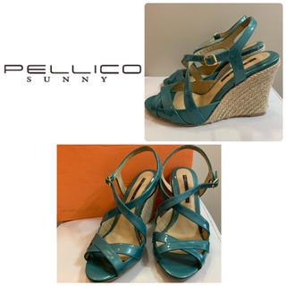 PELLICO - ペリーコサニー グリーンエナメル サンダル