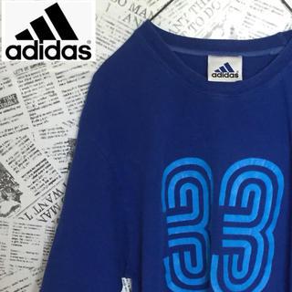 アディダス(adidas)の【レア】ブルーカラーadidas Tシャツ アディダス ヴィンテージ 古着(Tシャツ/カットソー(半袖/袖なし))