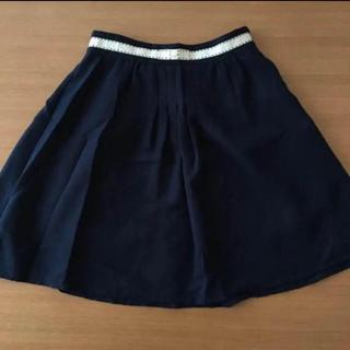 プーラフリーム(pour la frime)のネイビーのフレアスカート(ひざ丈スカート)