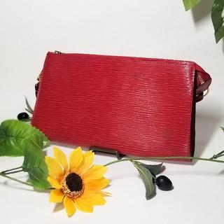 ルイヴィトン(LOUIS VUITTON)の正規品 ヴィトン Louis Vuitton ポシェット 赤 レッド ブランド(ポーチ)