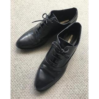 ザラ(ZARA)のレースアップローファー ザラベーシック38/25cm(ローファー/革靴)