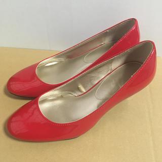 22cm パンプス(赤):小さいサイズ Sサイズ RED(レッド) ローヒール(ハイヒール/パンプス)