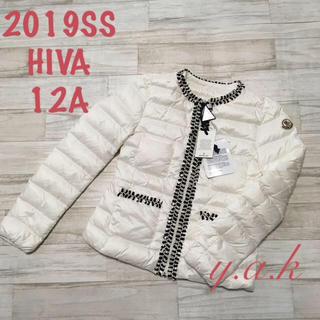 MONCLER - 12A モンクレール HIVA ホワイト ライトダウン