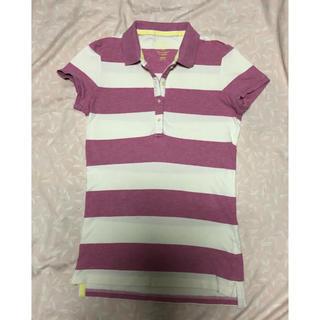ユニクロ(UNIQLO)のユニクロ★半袖ボーダーポロシャツ・L(ポロシャツ)