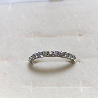 プラチナ ハーフエタニティダイヤモンドリング