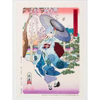 角川書店 - 浮世絵木版画 Re:ゼロから始める異世界生活 富嶽異世界少女百景 恋夢 第三版